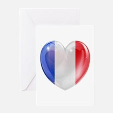 My French Heart Greeting Card