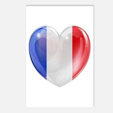 My French Heart Postcards (Package of 8)