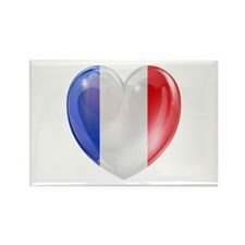 My French Heart Rectangle Magnet
