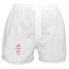 Keep Calm and Miya ON Boxer Shorts