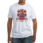 Vilain Family Crest  Fitted T-Shirt