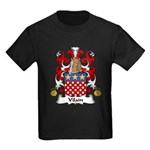 Vilain Family Crest  Kids Dark T-Shirt