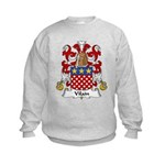 Vilain Family Crest  Kids Sweatshirt