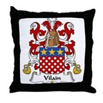Vilain Family Crest  Throw Pillow