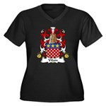 Vilain Family Crest  Women's Plus Size V-Neck Dark