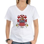 Vilain Family Crest  Women's V-Neck T-Shirt