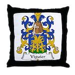 Viguier Family Crest  Throw Pillow