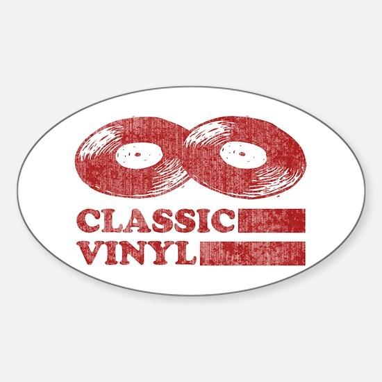 Classic Vinyl Oval Decal