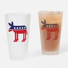 Democratic Donkey on Heels Drinking Glass