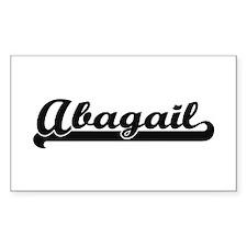 Abagail Classic Retro Name Design Decal