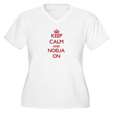 Keep Calm and Noelia ON Plus Size T-Shirt