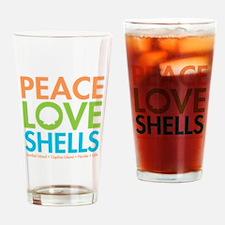 Peace-Love-Shells Drinking Glass