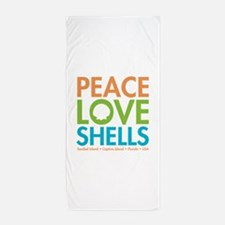 Peace-Love-Shells Beach Towel