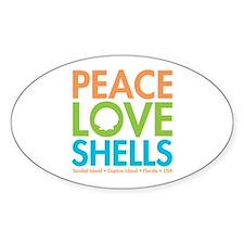 Peace-Love-Shells Decal