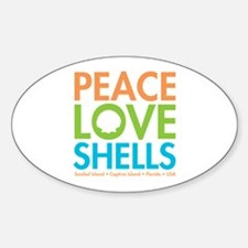 Peace-Love-Shells Decal