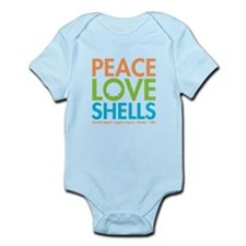 Peace-Love-Shells Infant Bodysuit