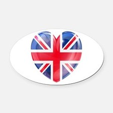 MY BRITISH HEART Oval Car Magnet
