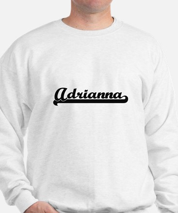 Adrianna Classic Retro Name Design Sweater