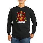 Vignes Family Crest Long Sleeve Dark T-Shirt