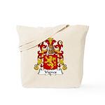 Vignes Family Crest Tote Bag