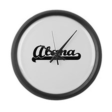 Alana Classic Retro Name Design Large Wall Clock
