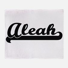 Aleah Classic Retro Name Design Throw Blanket