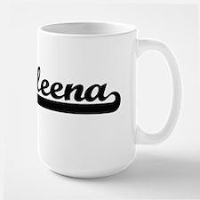 Aleena Classic Retro Name Design Mugs