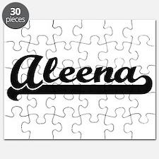 Aleena Classic Retro Name Design Puzzle