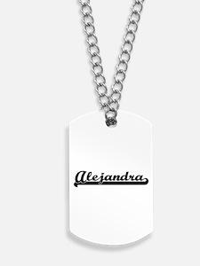 Alejandra Classic Retro Name Design Dog Tags