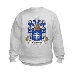 Vigneron Family Crest Kids Sweatshirt