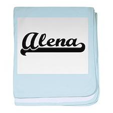 Alena Classic Retro Name Design baby blanket