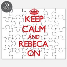 Keep Calm and Rebeca ON Puzzle