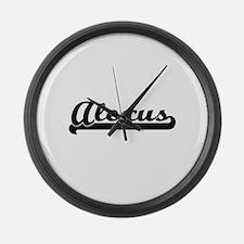 Alexus Classic Retro Name Design Large Wall Clock