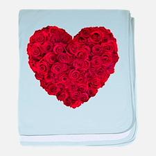 Red Rose Heart Shape baby blanket