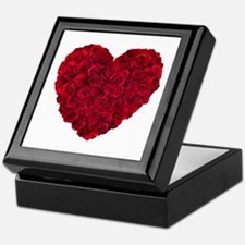Red Rose Heart Shape Keepsake Box