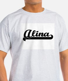 Alina Classic Retro Name Design T-Shirt