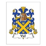 Viel Family Crest Small Poster