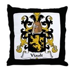 Viault Family Crest Throw Pillow