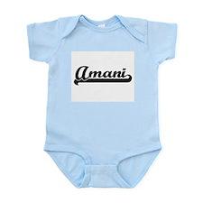 Amani Classic Retro Name Design Body Suit