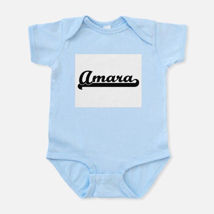 Amara Classic Retro Name Design Body Suit