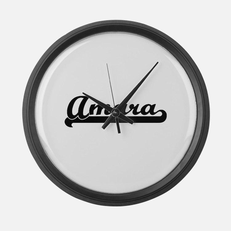 Amara Classic Retro Name Design Large Wall Clock