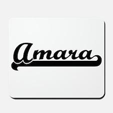Amara Classic Retro Name Design Mousepad