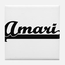 Amari Classic Retro Name Design Tile Coaster
