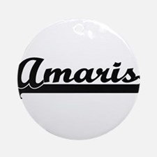 Amaris Classic Retro Name Design Ornament (Round)