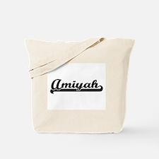 Amiyah Classic Retro Name Design Tote Bag