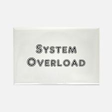 System Overload Rectangle Magnet