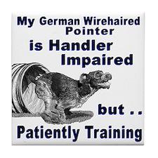 German Wirehd Pointer Agil Tile Coaster