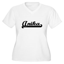 Anika Classic Retro Name Design Plus Size T-Shirt