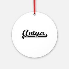 Aniya Classic Retro Name Design Ornament (Round)