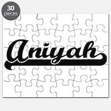 Aniyah Classic Retro Name Design Puzzle